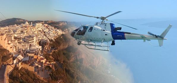 santorini helicopter tours
